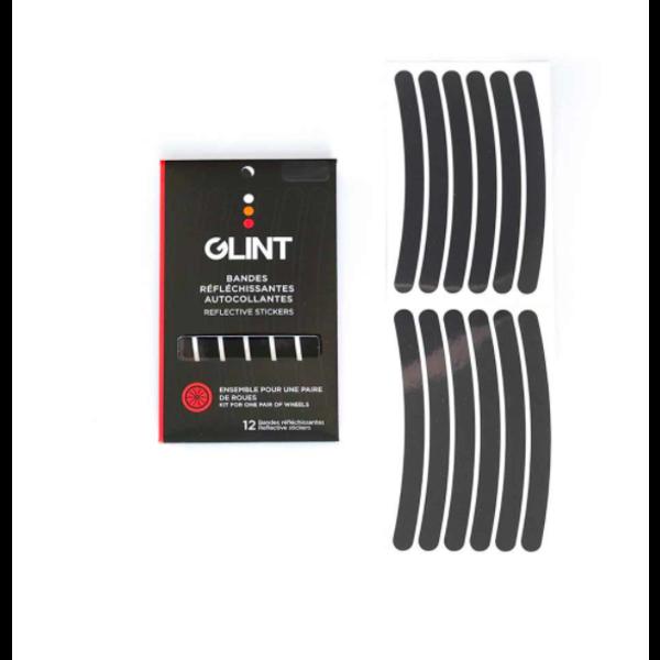 GLINT Ensemble pour roues (paire) - Autocollants réfléchissants noir