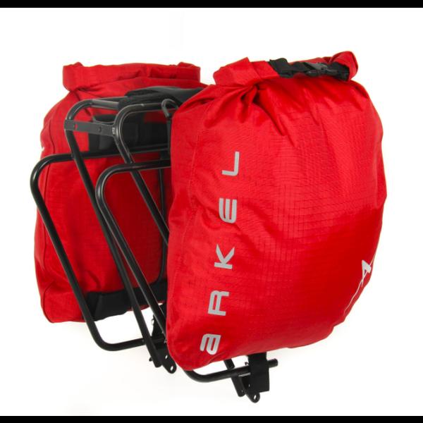 ARKEL Dry-Lites - Paire sacoches latérales arrière light Rouge