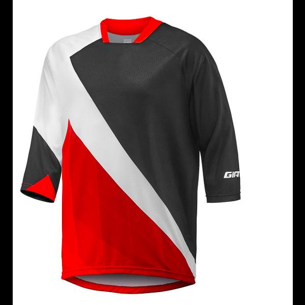 GIANT Transfer 3/4 - Jersey vélo montagne Noir/ Rouge/ Blanc