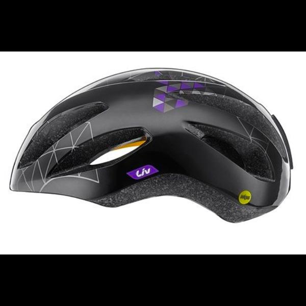 LIV Lanza MIPS - Casque vélo route Noir/ Mauve