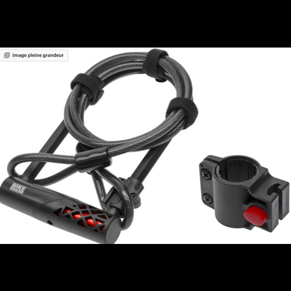 BIKE GUARD Rocklock Combo 1320 - Cadenas à clé avec câble