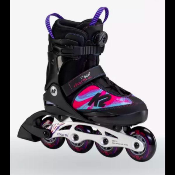 K2 Charm Boa Alu - Patins à roues alignées ajustable Fille 1-5