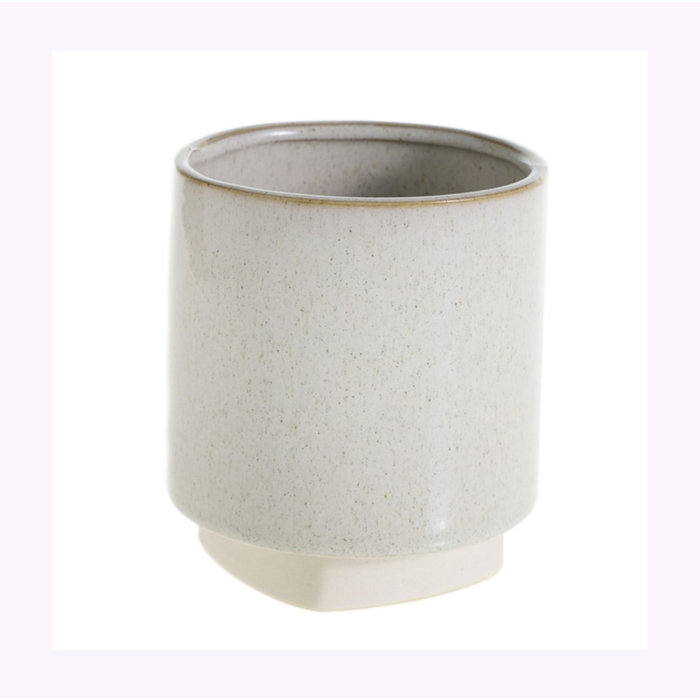 Cache-pot Accent Decor Croix blanc 2,75 x 3