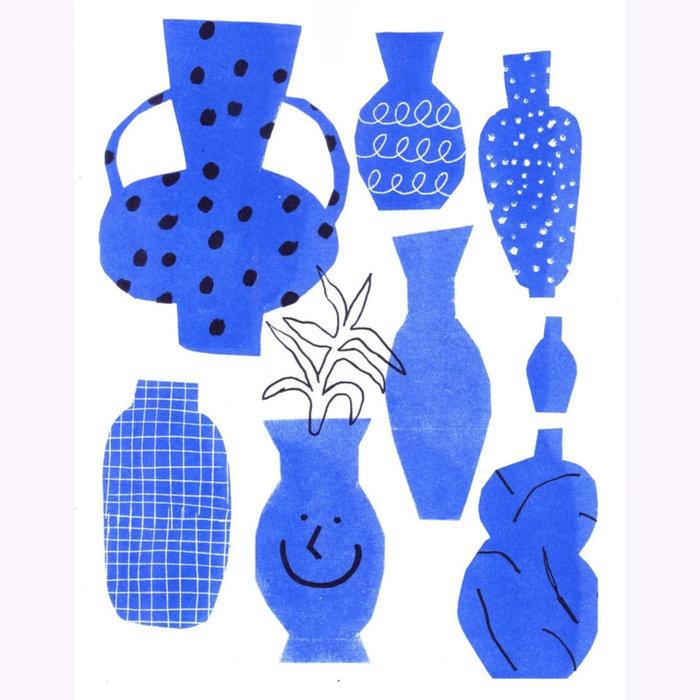 Amelie Lehoux Imprimé Amélie Lehoux Vases bleus