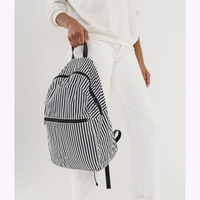 Baggu sac à dos Sac à dos pliable Baggu rayé noir et blanc