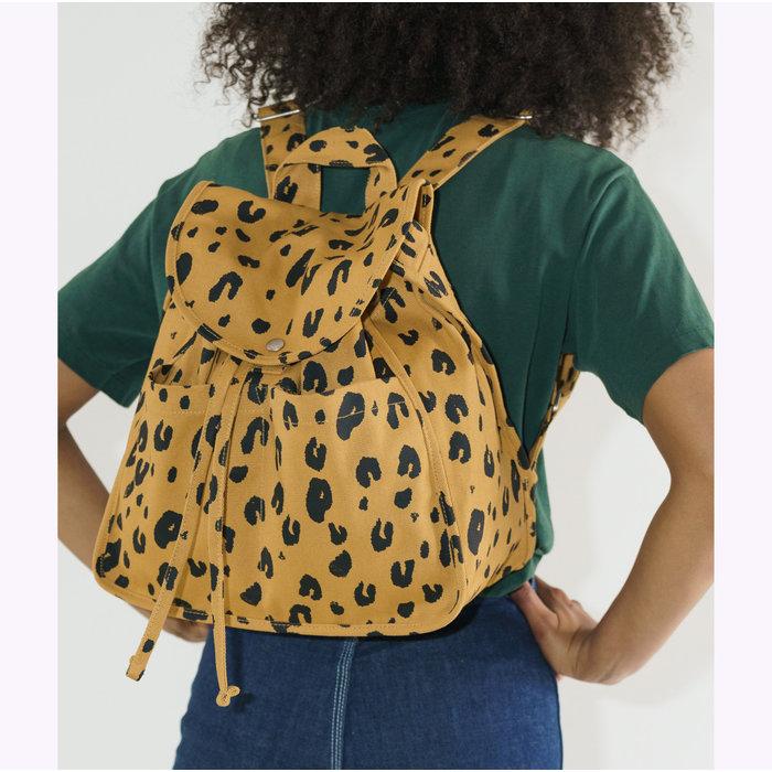 Baggu Leopard Drawstring Backpack