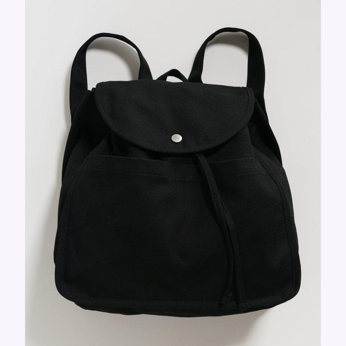 Baggu sac à dos Baggu Black Drawstring Backpack