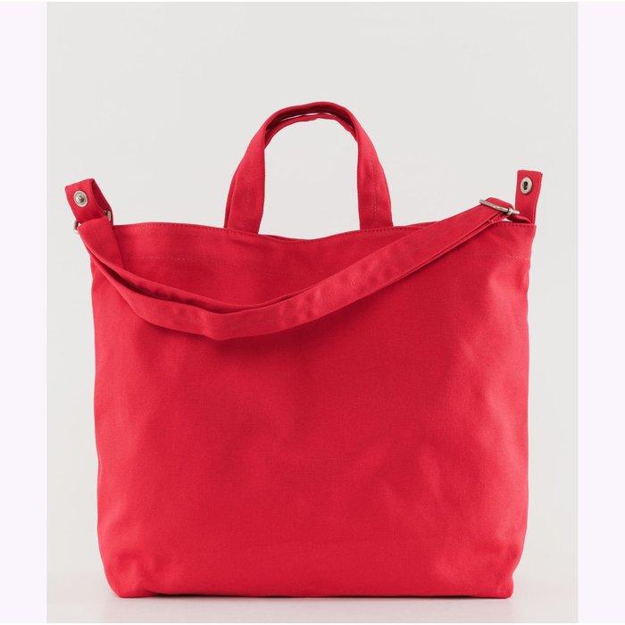 Baggu Punch Red Horizontal Duck Bag
