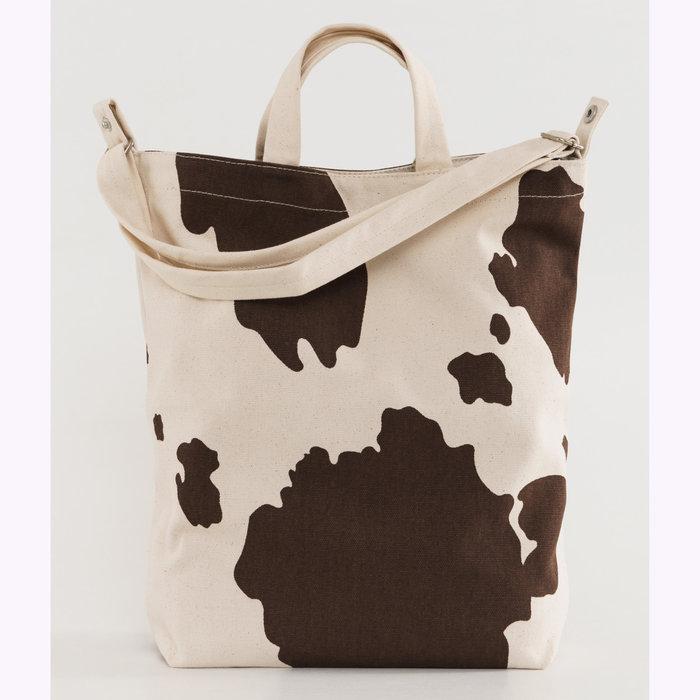 Baggu sac à main Sac fourre-tout en canevas Baggu Vache brune et blanche