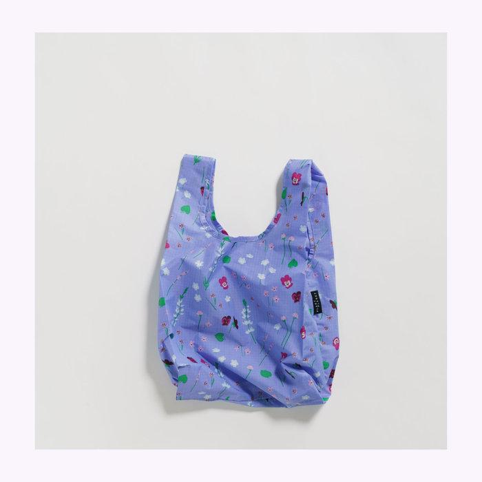 Baggu sac réutilisable Petit sac réutilisable Baggu Fleurs sauvages bleues
