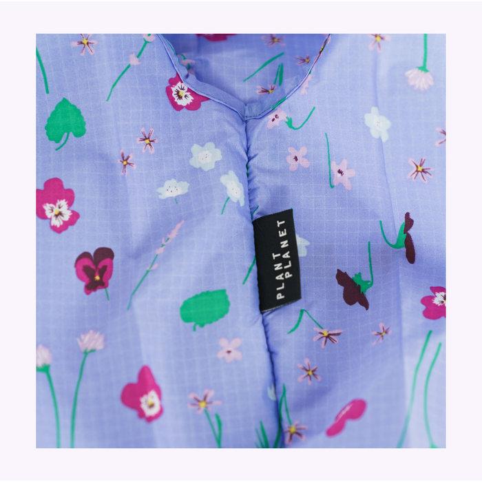 Petit sac réutilisable Baggu Fleurs sauvages bleues