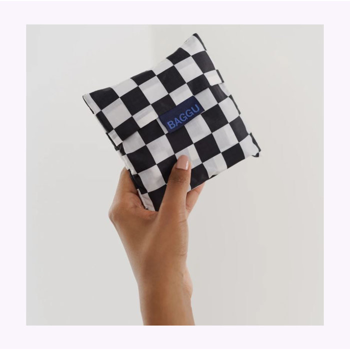 Baggu Black Checkerboard Reusable Bag