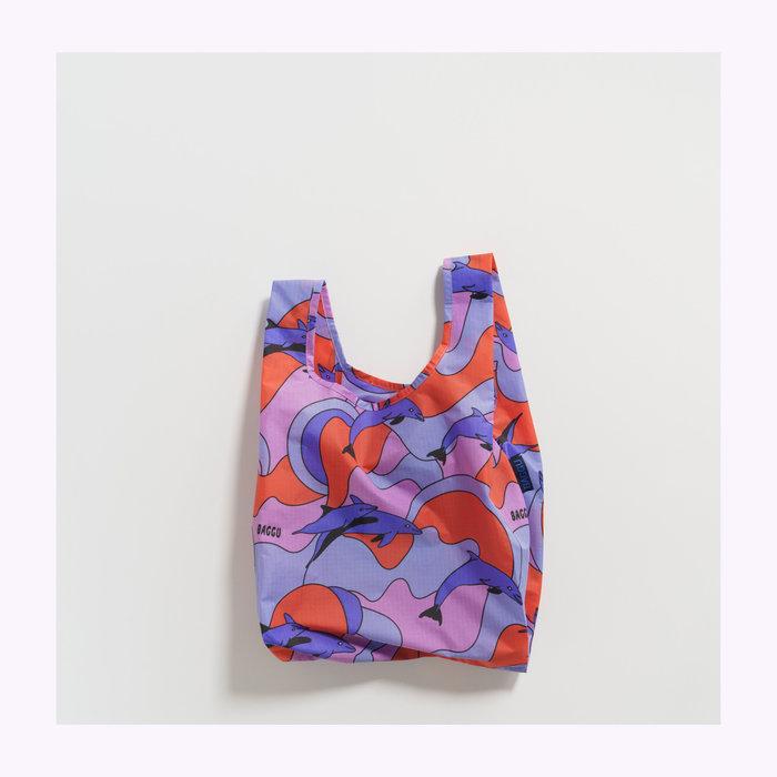 Baggu sac réutilisable Petit sac réutilisable Baggu Dauphins