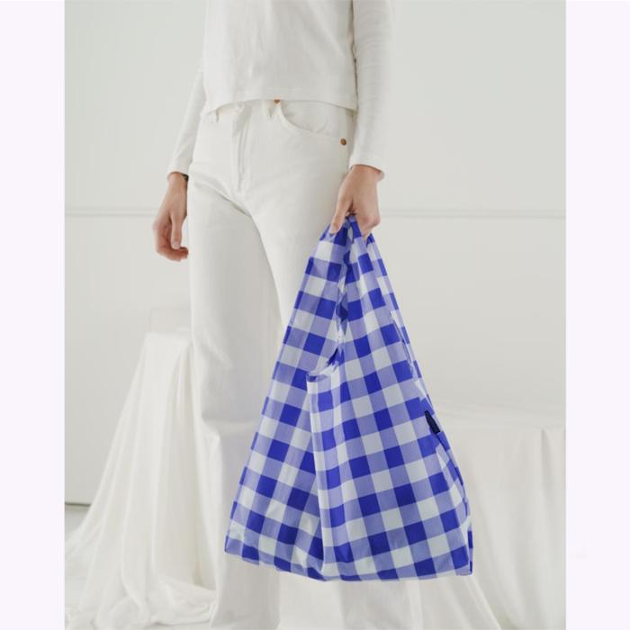 Baggu sac réutilisable Baggu Checked Blue Reusable Bag