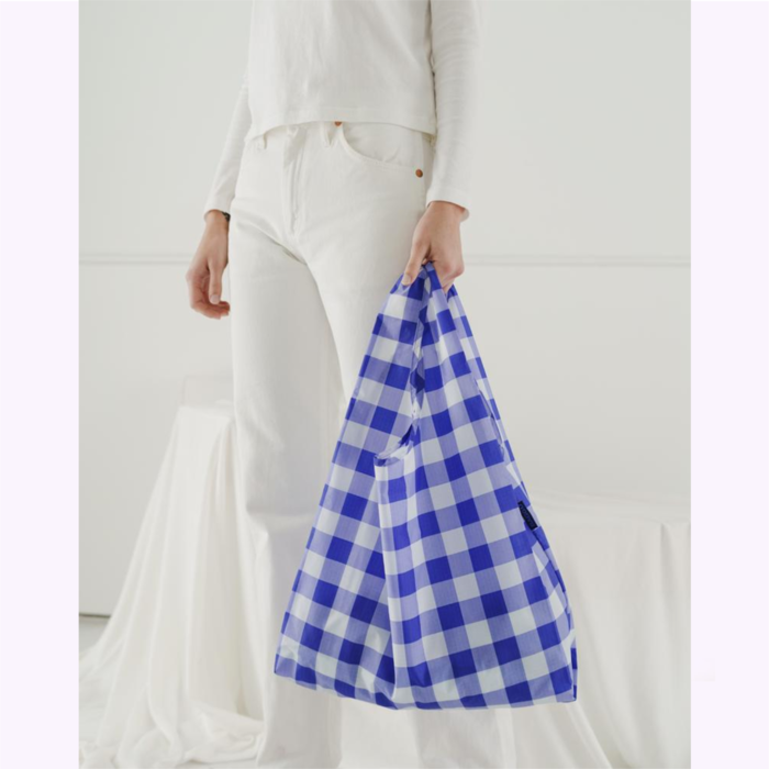 Baggu sac réutilisable Sac réutilisable Baggu Carreaux Bleus