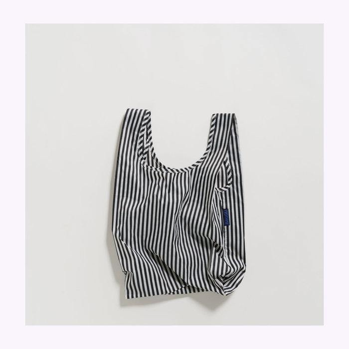 Baggu sac réutilisable Baby Baggu Black & White Stripes Reusable Bag