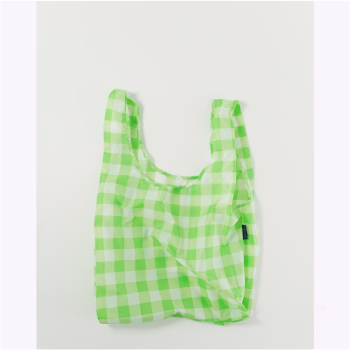 Baggu Checked Lime Reusable Bag