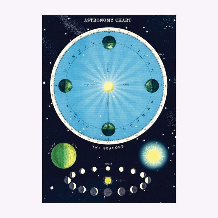 Cavallini Cavallini Astronomy Chart Poster