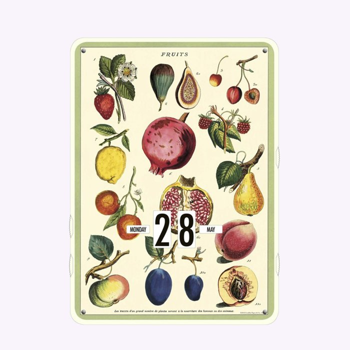 Cavallini Fruits Perpetual Calendar