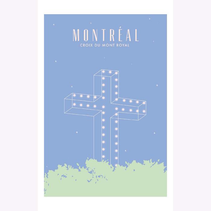 Hello LA Hello LA Mount Royal Cross Print