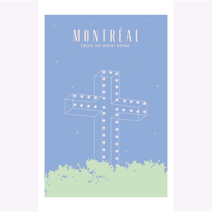 Affichette Hello LA Croix du Mont-Royal