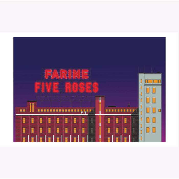 Affichette Hello LA Farine Five Roses