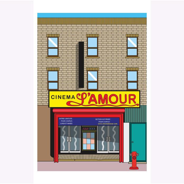 Affichette Hello LA Cinéma L'Amour