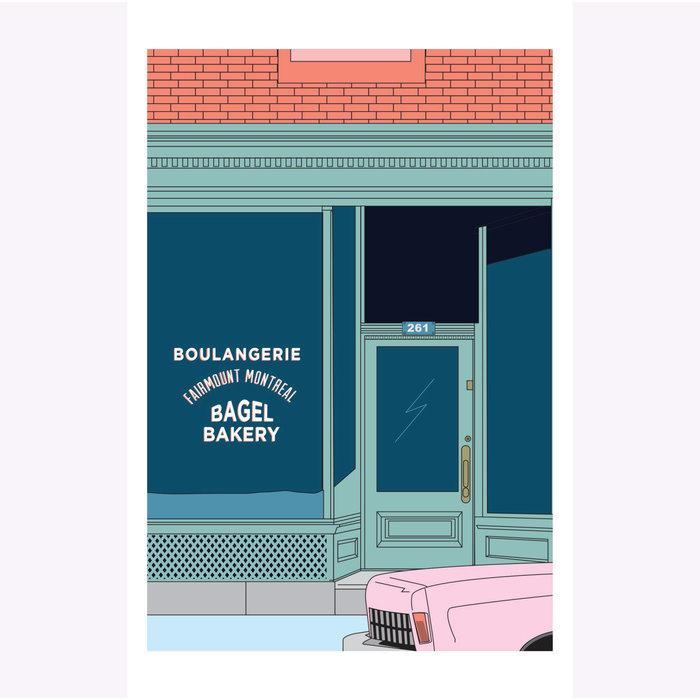 Hello LA Fairmount Bagel Print
