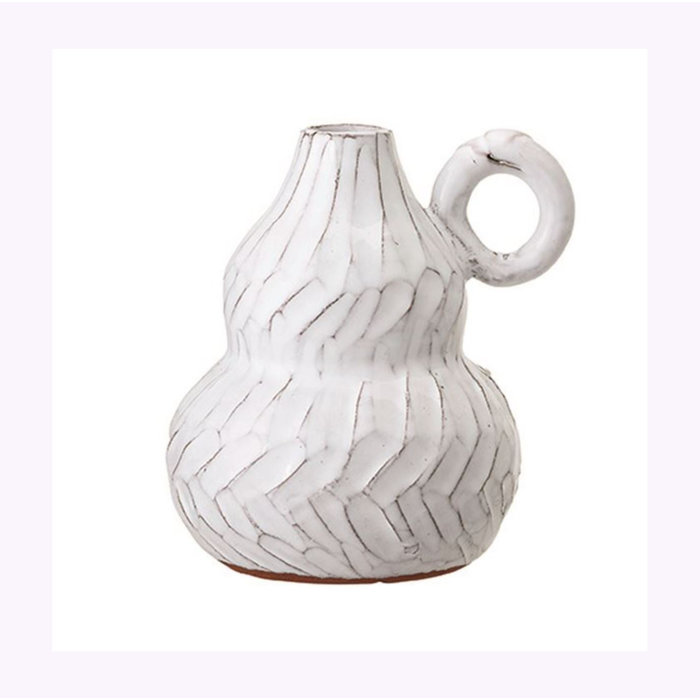 Bloomingville White Vase With Handle