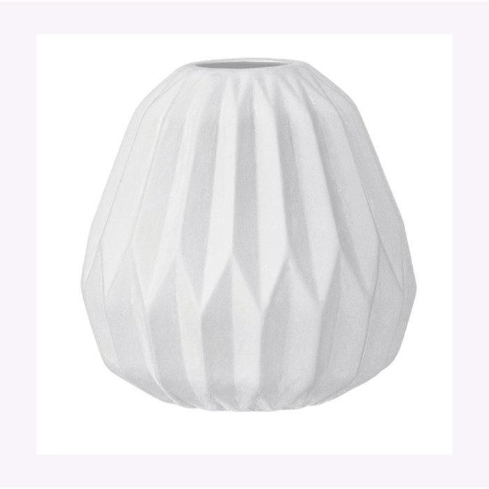 Bloomingville White Fluted Vase