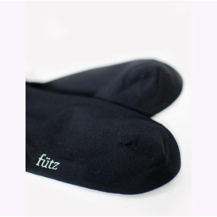 Futz Black Cotton Socks