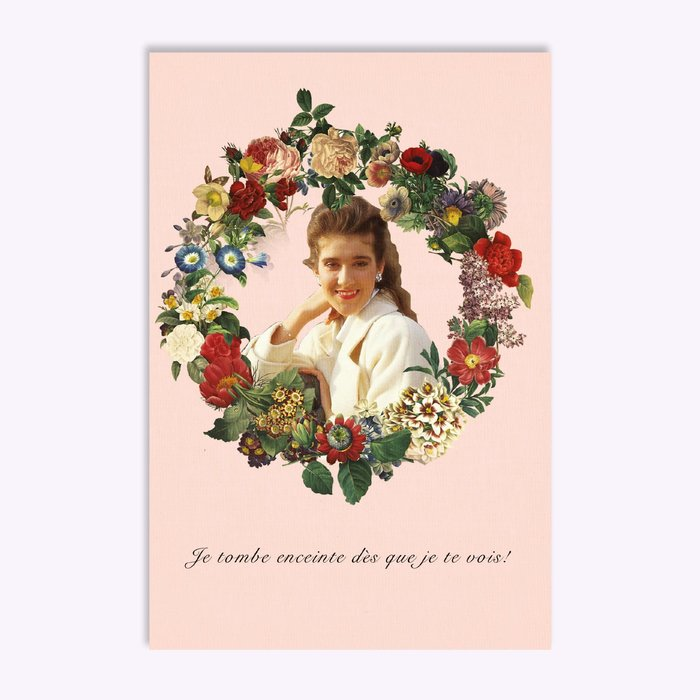 Hello LA I get pregnant when I see you ! Greeting Card (Fr)