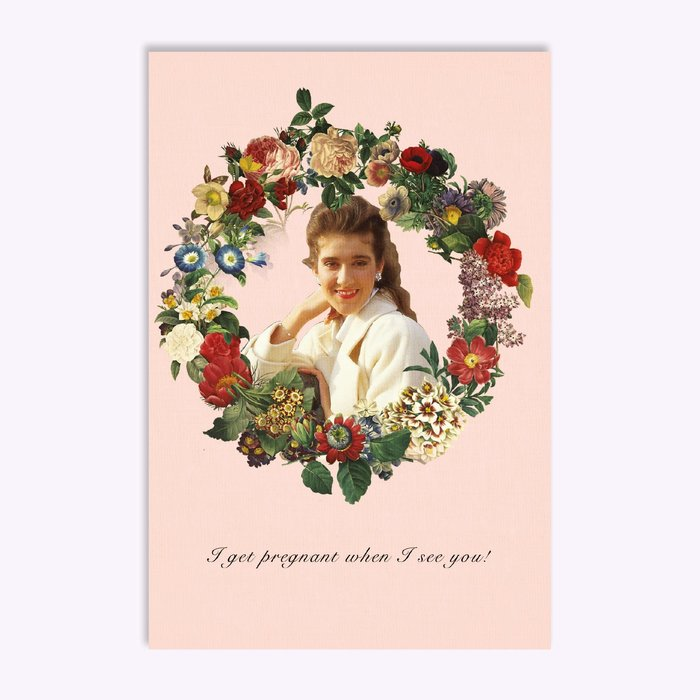 Hello LA I get pregnant when I see you ! Greeting Card