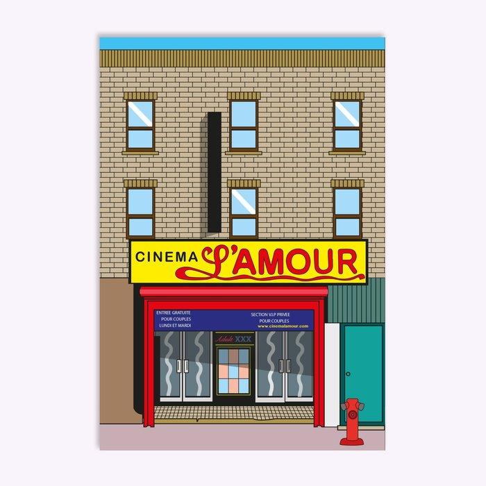 Carte postale Hello LA Cinéma L'Amour