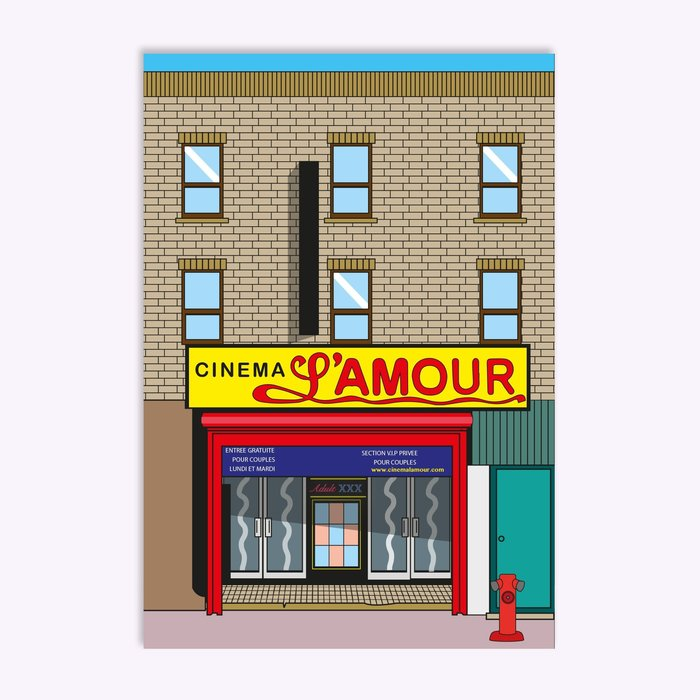 Hello LA Cinéma L'Amour Postcard