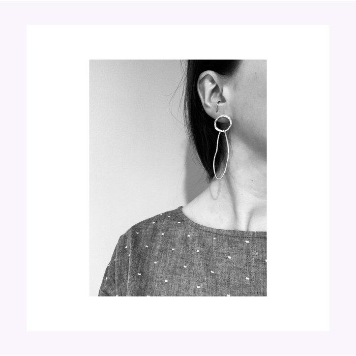 Boucles d'oreilles Hélène  Argent La Manufacture