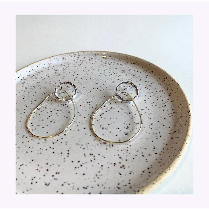 La Manufacture Brass Hélène Earrings