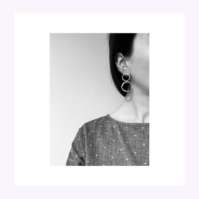 La Manufacture Boucles d'oreilles Marie Argent La Manufacture
