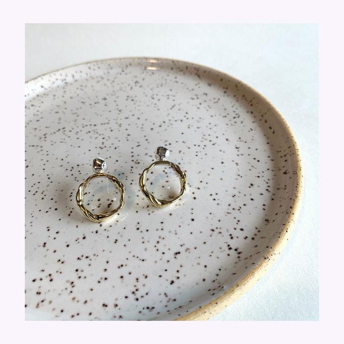 La Manufacture La Manufacture Brass Yann Earrings