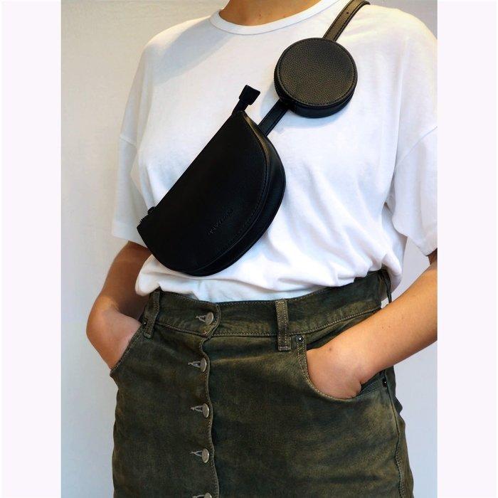 Monk & Anna Black Toho Belt Bag