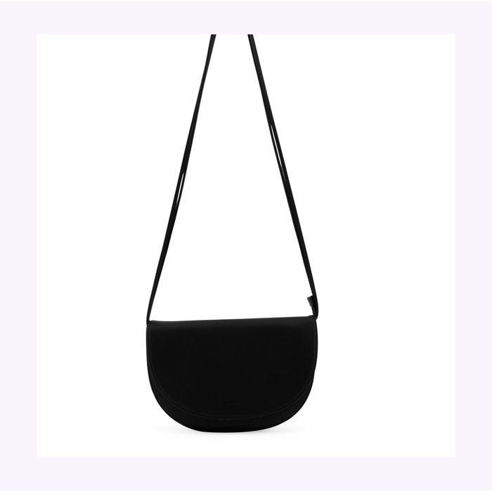 Monk & Anna Half Moon Black Soma Handbag