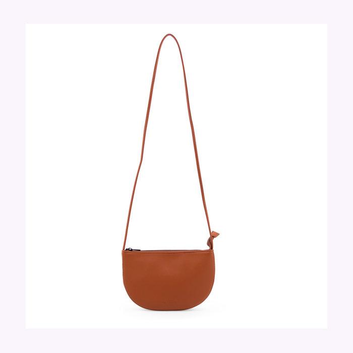 Monk & Anna Monk & Anna Half Moon Burnt Orange Farou Handbag