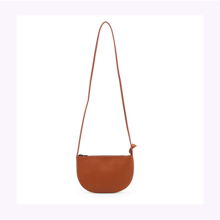 Monk & Anna Half Moon Burnt Orange Farou Handbag
