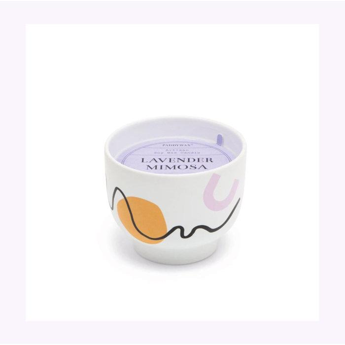 Paddywax Wabi Sabi Lavender Mimosa Candle 12oz