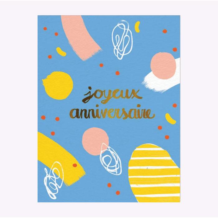 Paperole Joyeux anniversaire Birthday Card
