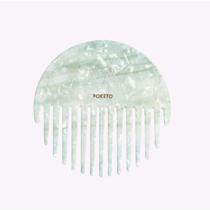 Poketo Mint Circle Comb