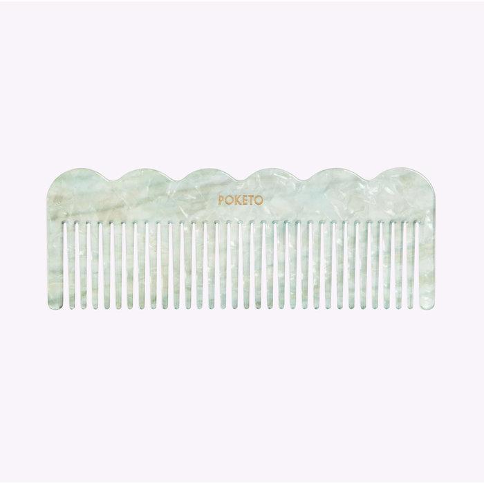 Poketo Mint Wave Comb