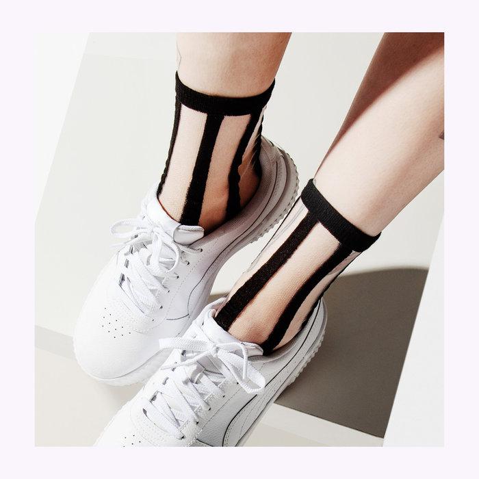 Poketo Poketo Lines Sheer Socks