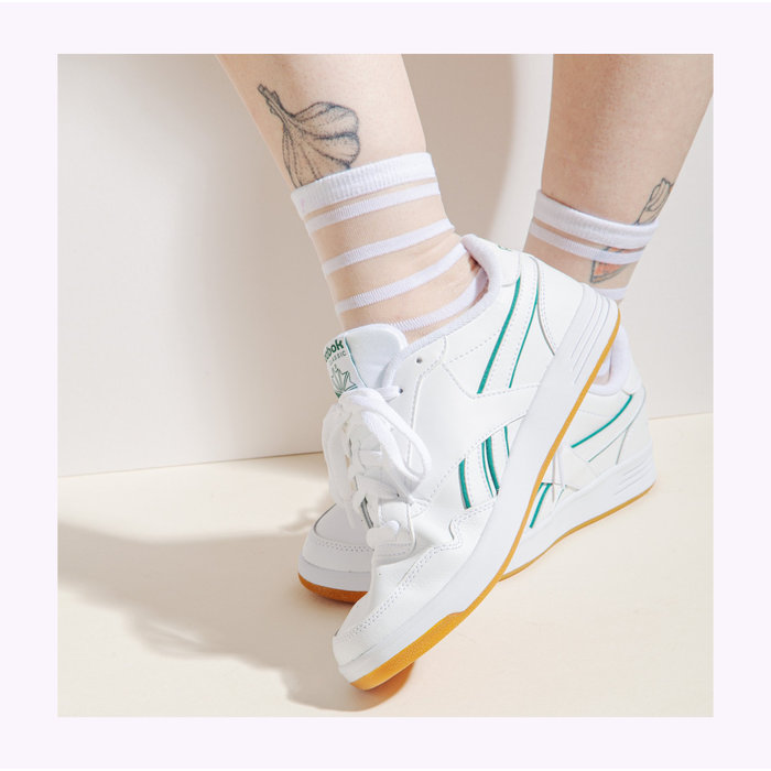 Poketo White Stripes Sheer Socks