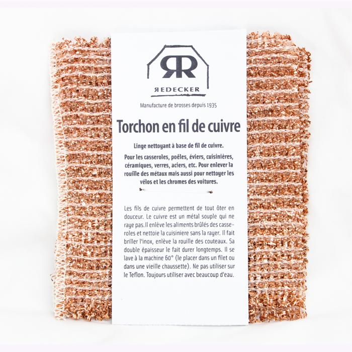 REDECKER Torchon en fil de cuivre Redecker (Ensemble de 2)